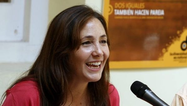Mariela Castro, Director of the Cuban National Center for Sex Education and daughter of current President Raul Castro.