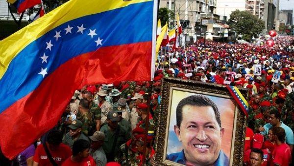 Supporters of Venezuela
