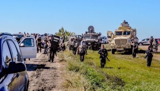 North Dakota authorities using heavy handed tactics on Water Protectors.