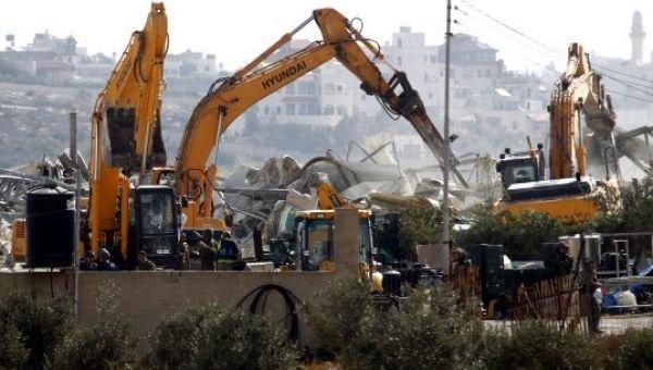 El pasado mes de octubre fuerzas israelíes destruyeron 18 edificaciones en seis comunidades palestinas, desplazando 54 personas