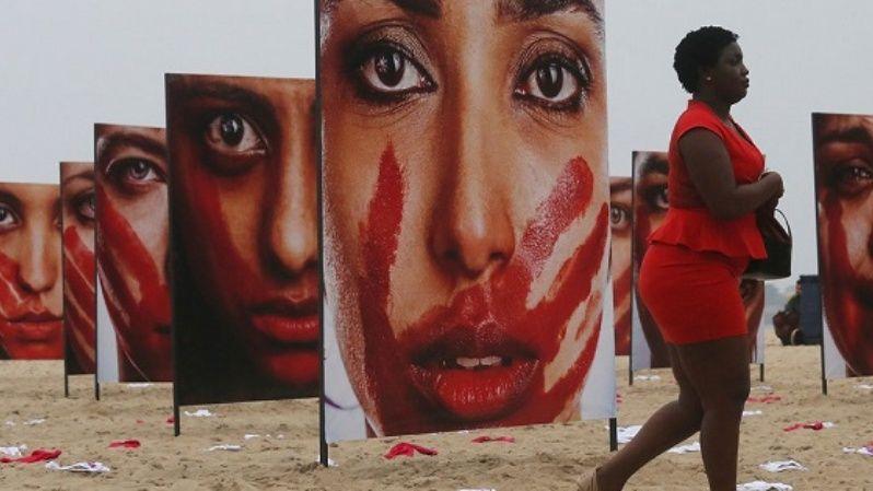 An art installation on Rio de Janeiro