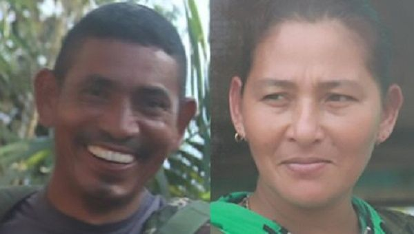 Two FARC rebels, identified as Joaco (L) and Monica, were allegedly killed Wednesday by a government sniper.