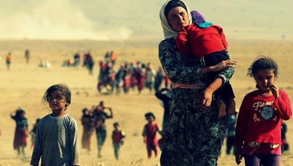 Refugees from U.S. wars are made up of thousands of women and children.