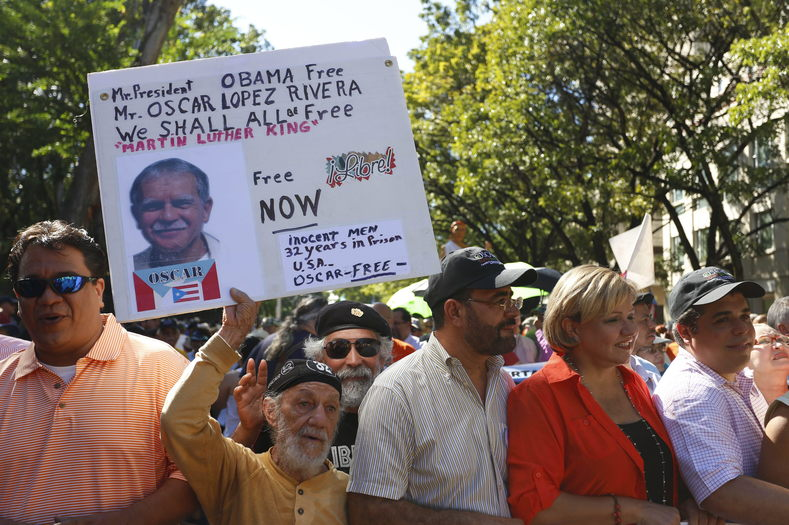 Thousands of people marched in Puerto Rico in 2013 as part of the ongoing struggle to free Oscar Lopez Rivera.