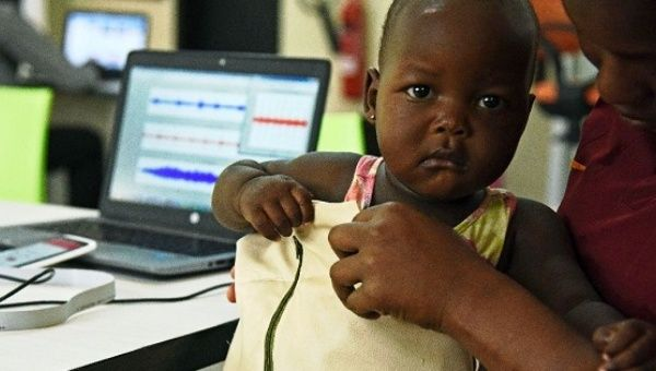 "The ""Mama-Ope"" kit, invented by Ugandan engineers, is a biomedical smart jacket and a mobile phone app that diagnoses pneumonia faster than a doctor."