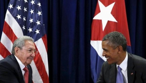 Cuban President Raul Castro said during Barack Obama