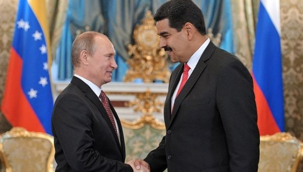 Russian President Vladimir Putin and Venezuelan President Nicolas Maduro.
