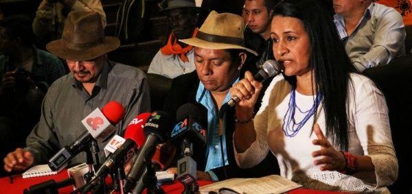 Marylen Serna, vocera de la Mesa Social para la Paz, reclama una activa participación de la sociedad civil en la fragua de la paz en Colombia.