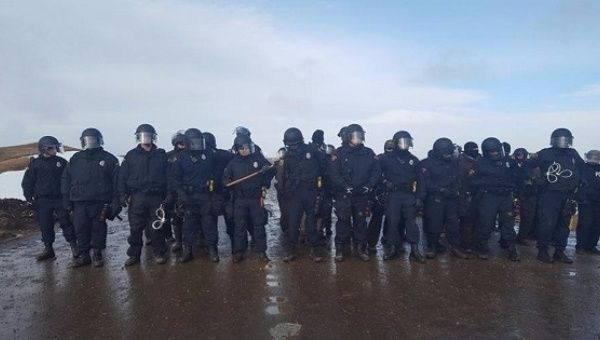 Police have begun to crack down on the water protectors.