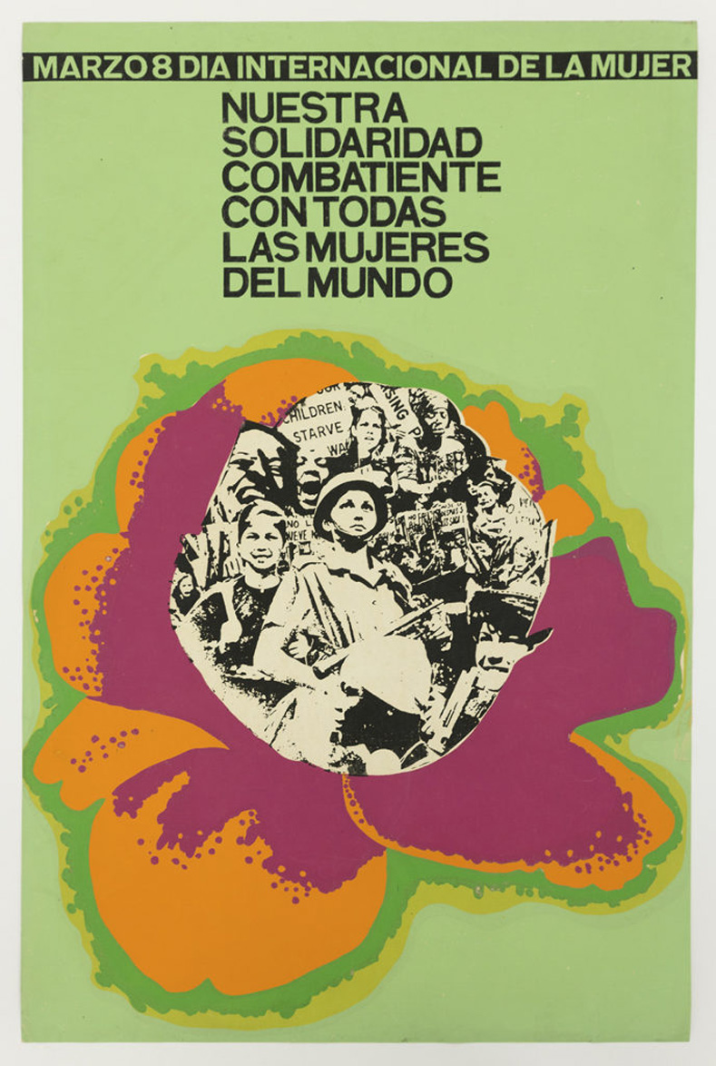Cuban pop-art style poster for International Women