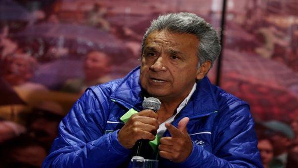 El candidato por Alianza PAIS, Lenín Moreno, fue el vencedor en la primera vuelta.