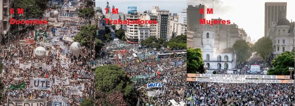 La respuesta del gobierno macrista frente a los reclamos de las mujeres ha sido la criminalización de la protesta.