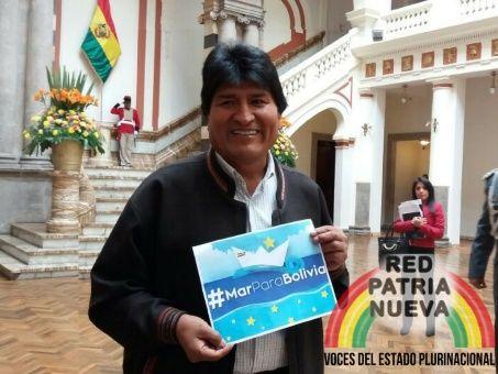 El presidente Evo Morales se sumó la campaña en Twitter.