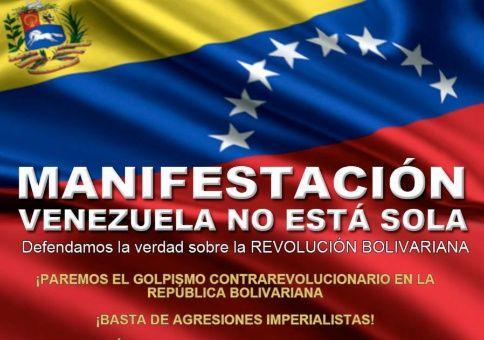 Solidaridad con Venezuela en España.