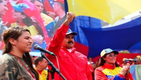 The Venezuelan leader addressed a massive gathering of government supporters in the country