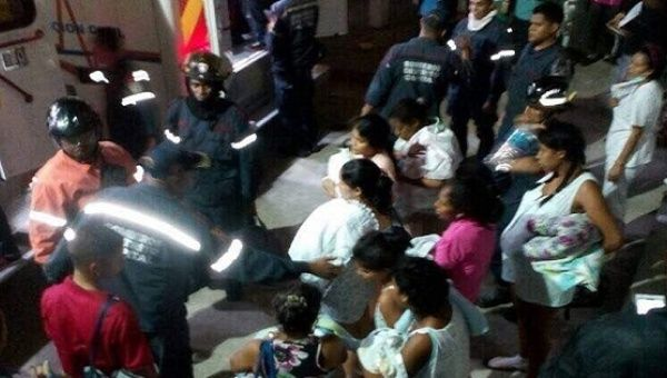 Mothers and children being evacuated from hospital attacked by the opposition.