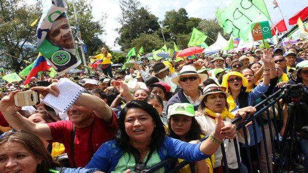 El pasado sábado el pueblo ecuatoriano acudió al Festival Victoria Popular para celebrar el triunfo de Lenín Moreno.