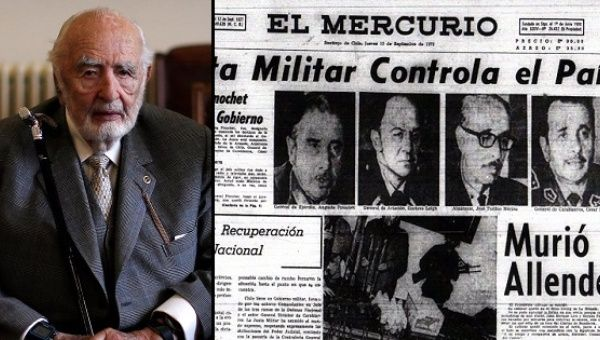 El Mercurio coverage often praised the military dictatorship of Augusto Pinochet and denied human rights abuses such as forced disappearances.