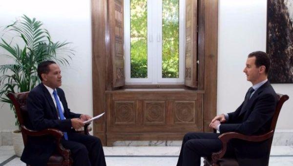 teleSUR sat down with Syrian President Bashar al-Assad April 25, 2017-