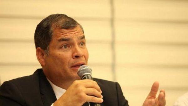 Out-going President of Ecuador Rafael Correa.