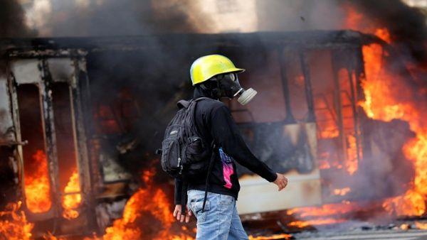 Este sábado fue secuestrada e incendiada una unidad de transporte público.