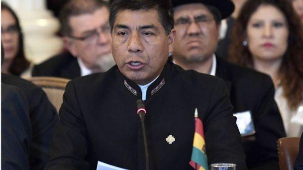 """El canciller boliviano Fernando Huanacuni condenó lo que considera una """"intervención"""" de actores de la OEA en los asuntos internos de Venezuela."""