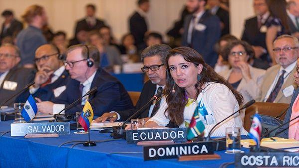 """""""Los conflictos de Venezuela deben ser resueltos por los venezolanos"""", afirmó la diplomática ecuatoriana."""