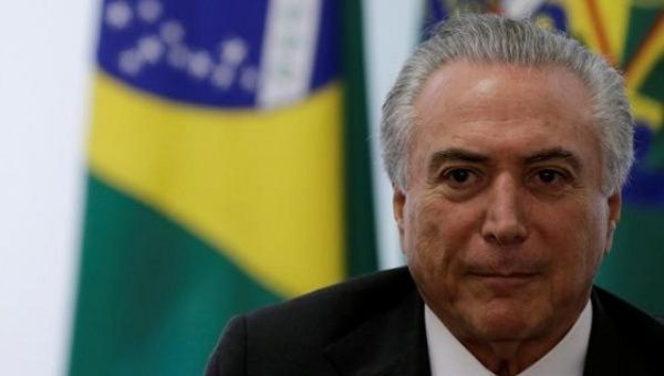 Brazilian diplomats express concern that Temer