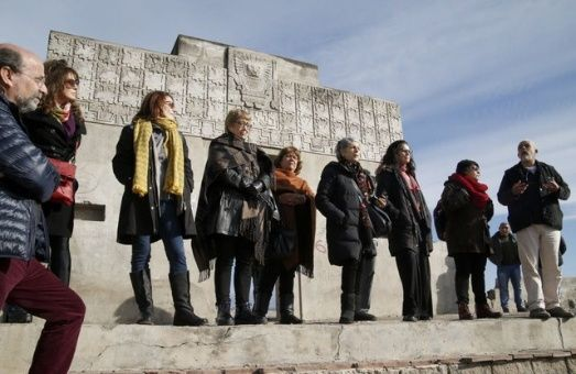 Cantantes, actrices y periodistas estuvieron junto a la líder de organización social Tupac Amaru.