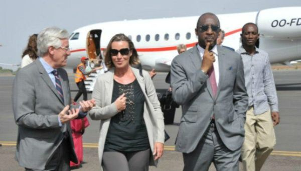 Federica Mogherini arrives in Mali capital.