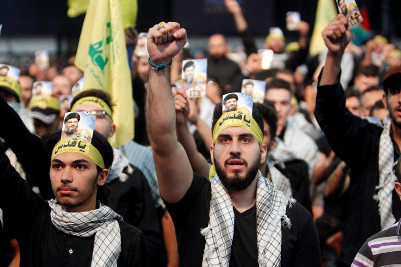 Supporters of Lebanon