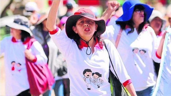 Los maestros consiguieron llegar a Lima, después de realizar por varios días la marcha de los sacrificios.