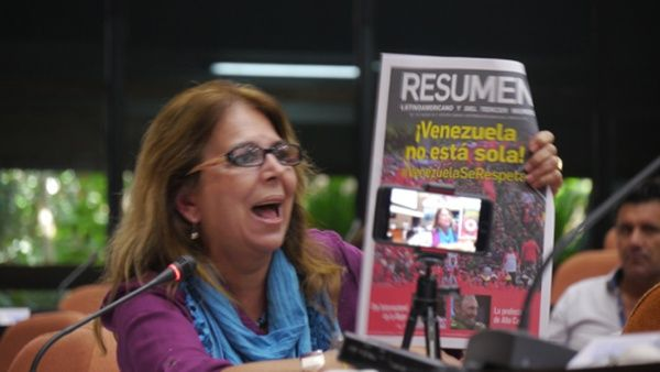 Ramírez afirmó que las verdaderas intenciones de los Estados Unidos (EE.UU.) son el petróleo.