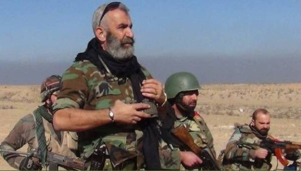 Major General Issam Zahreddine overseeing an operation near Deir Ezzor.