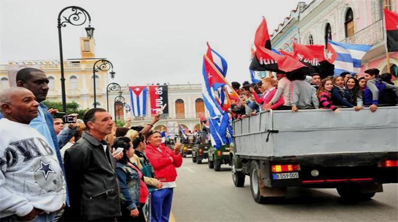 La ruta terminó el día 8 de enero con la entrada en La Habana a través del Malecón.
