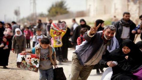 Por medio del corredor de Hamuriyah los civiles salieron de Guta Oriental.