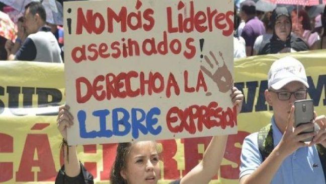 Resultado de imagen para muerte de lideres sociales en colombia 2019