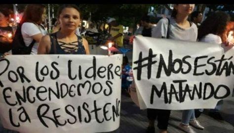 Según la ONU alrededor de 107 lideres sociales fueron asesinados en Colombia el pasado año.