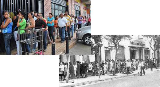 Desabastecimiento Chile y Venezuela