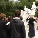 Megemlékezés a 100 éves pozsonyi Petőfi-szobornál