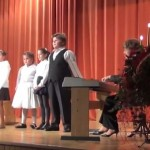 A rozsnyói ref. iskola karácsonyi műsora