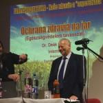 Tóth Péter és Dr. Deák Sándor belgyógyász az egészségnapokon