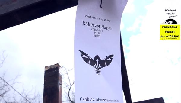 Hogyan posztolj verset az utcára