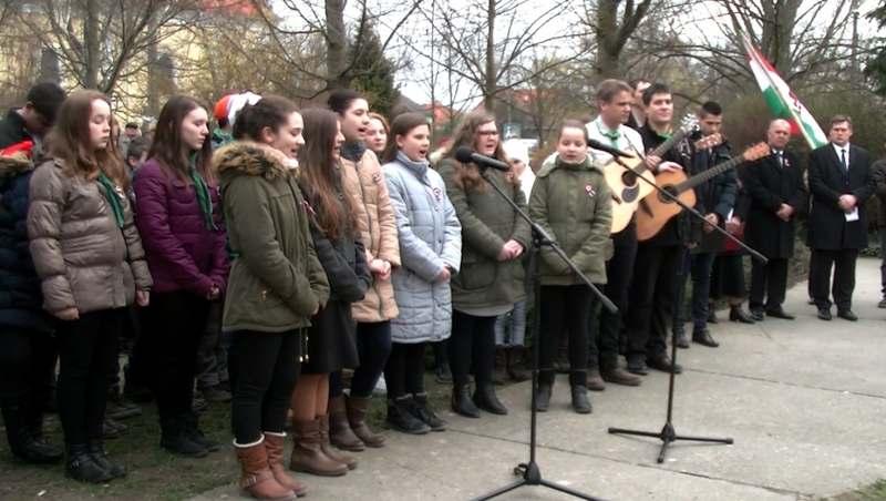 Megemlékezés a magyar szabadságharcról Bősön