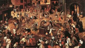 Id. Pieter Bruegel: Farsang és Böjt harca, 1559 (Fotó: Kunsthistorisches Museum, Bécs)