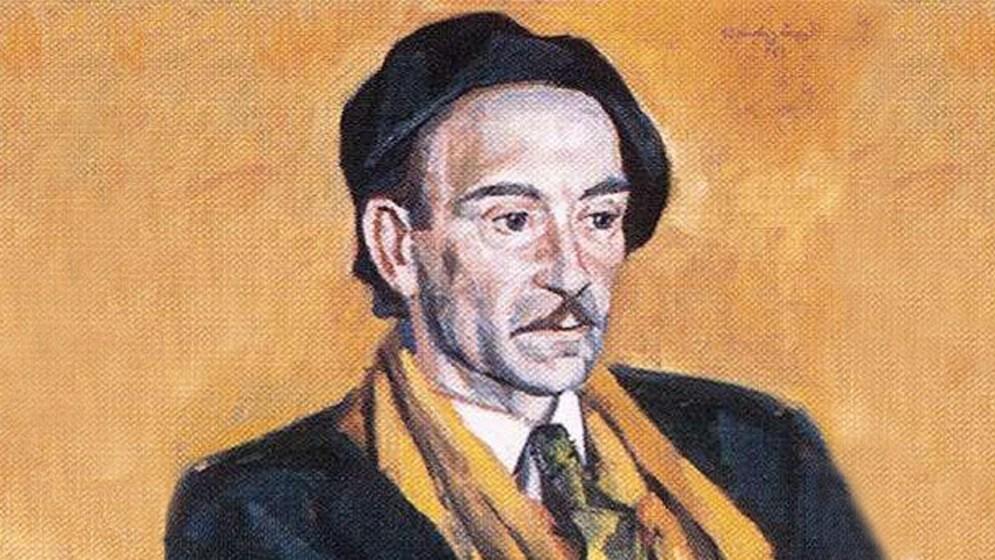 Szentgyörgyi Kornél: Jékely Zoltán portréja (mek.oszk.hu) - részlet