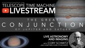 Itt látható a Jupiter-Szaturnusz együttállás