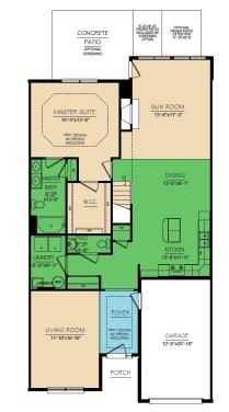 Yorkshire 3 Bedroom Floor 1