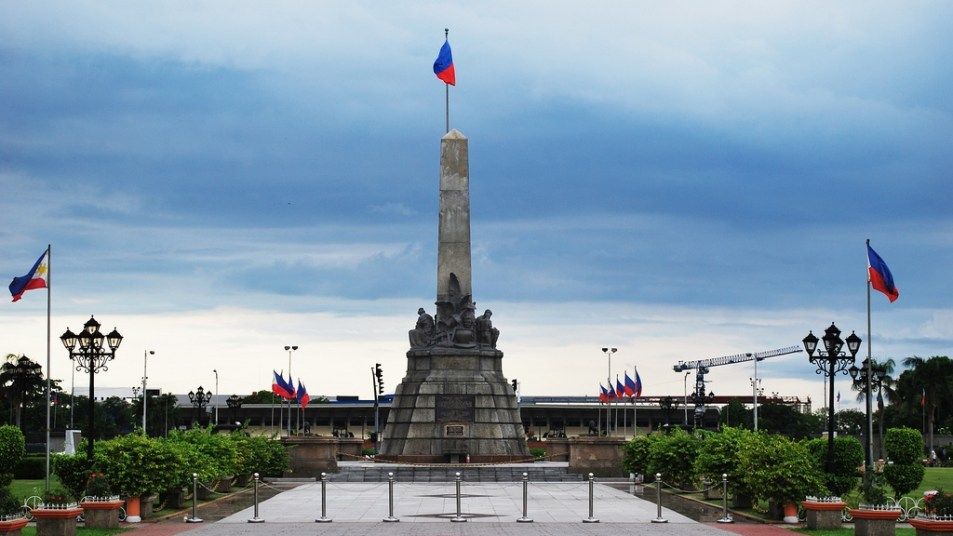 Monument in the center of the luneta park