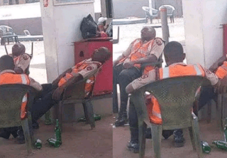 PHOTO: Drunk Marshals on duty recall by Federal Road Safety Corp